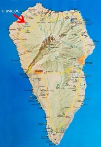 Karte von La Palma